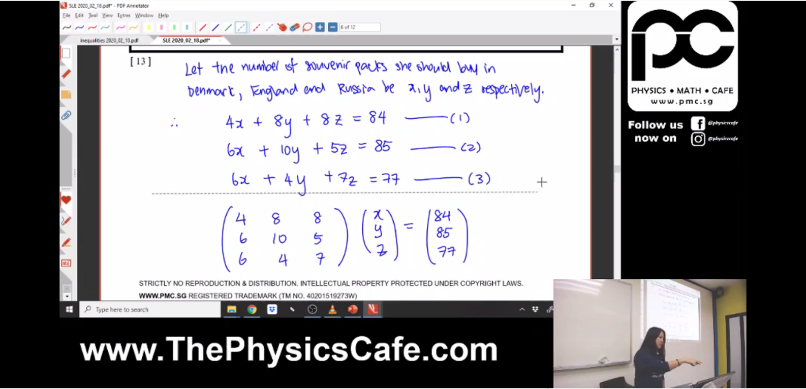 [INEQUALITIES] System of Linear Equations and Polynomials