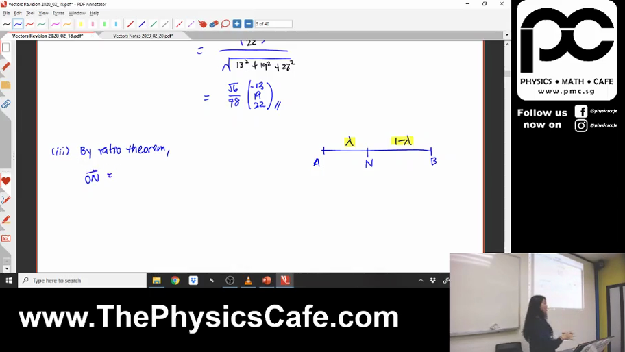 [VECTORS] Ratio Theorem
