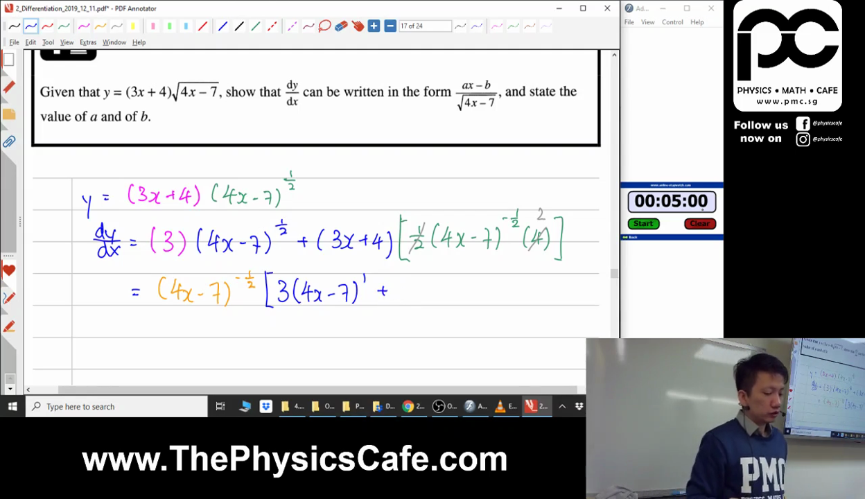 [DIFFERENTIATION] Product and Quotient Rule