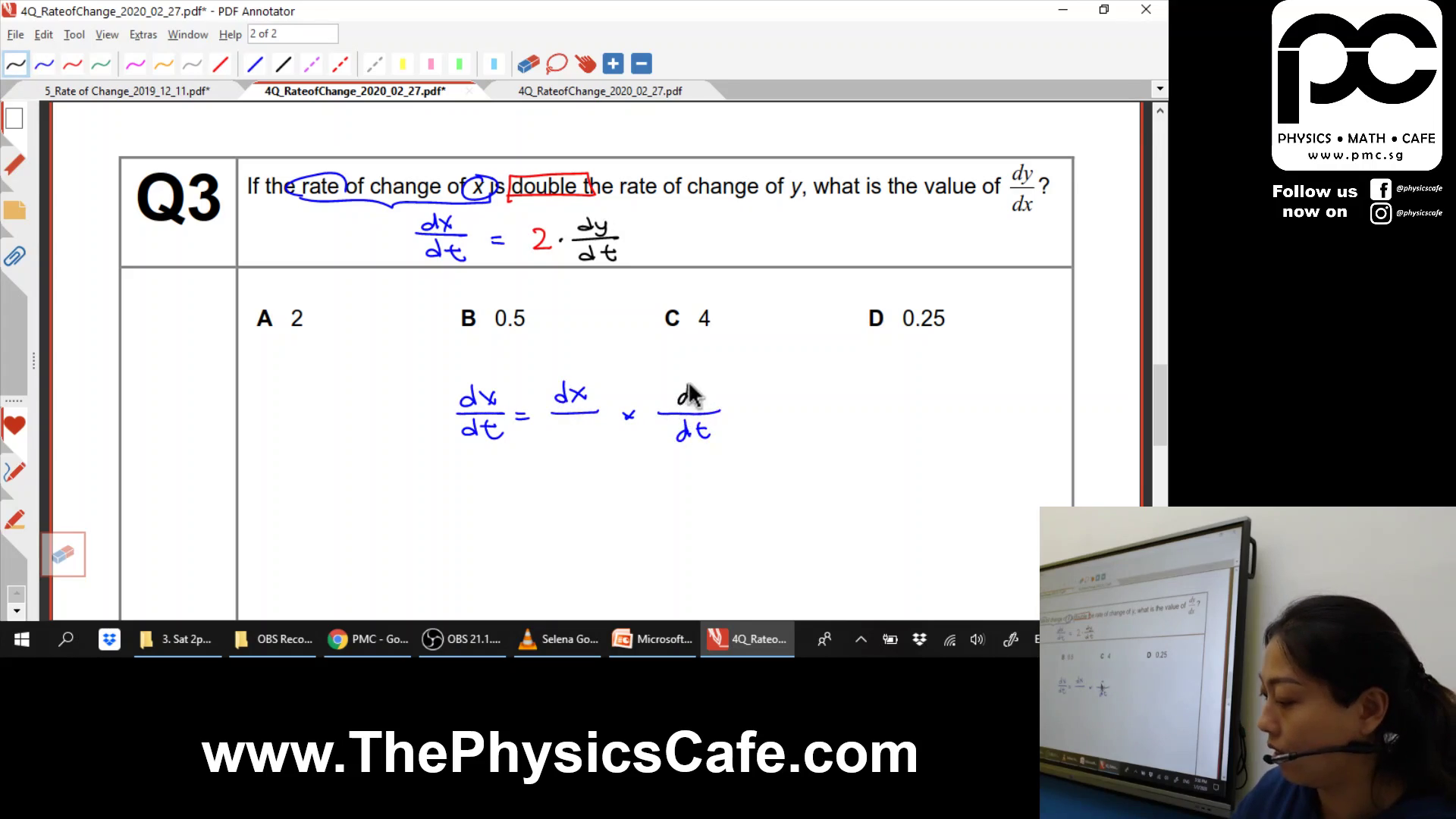 [DIFFERENTIATION] Rate of Change