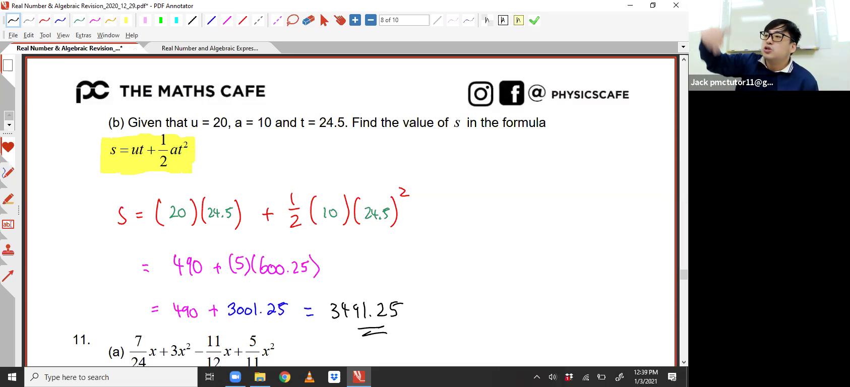 4. Algebra + Real Numbers
