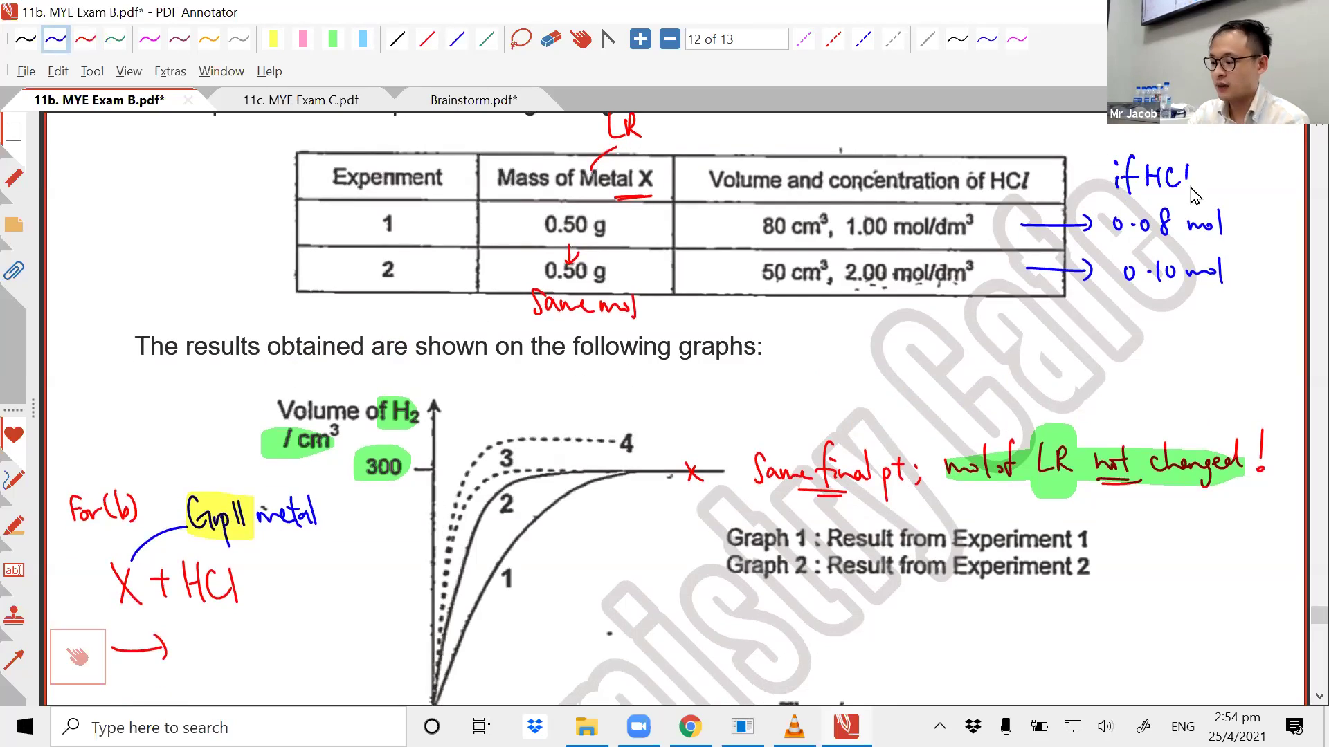 [SPEED OF REACTION] Measurement and Calculations