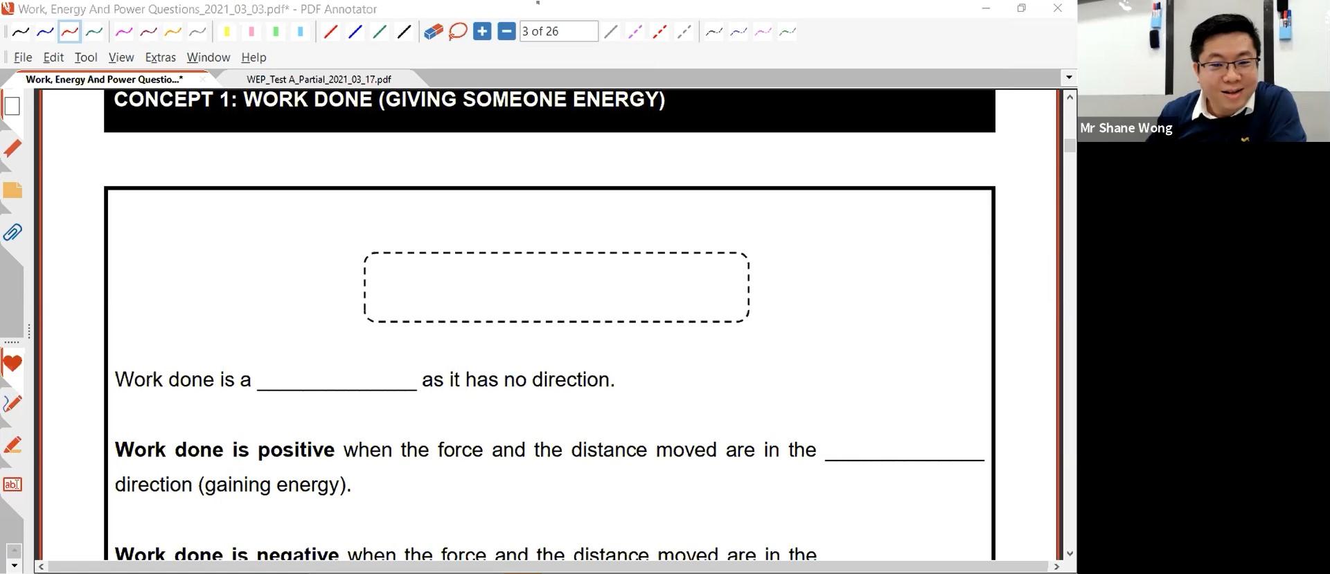 21. Work Energy Power Lesson 2