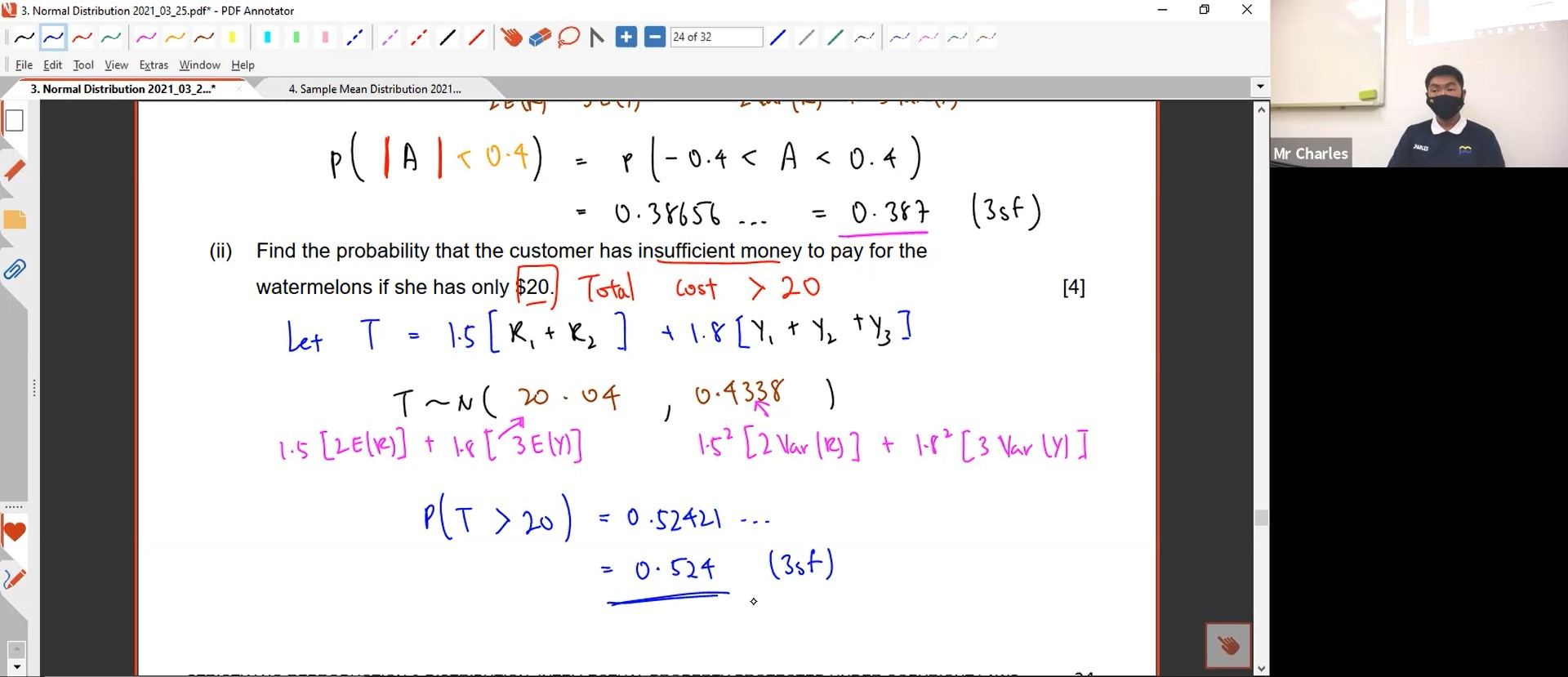 22. Normal Distribution L2 & Sample Mean Distribution L1