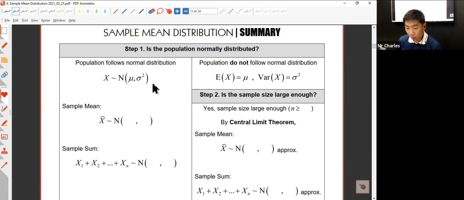 23. Sample Mean Distribution 2