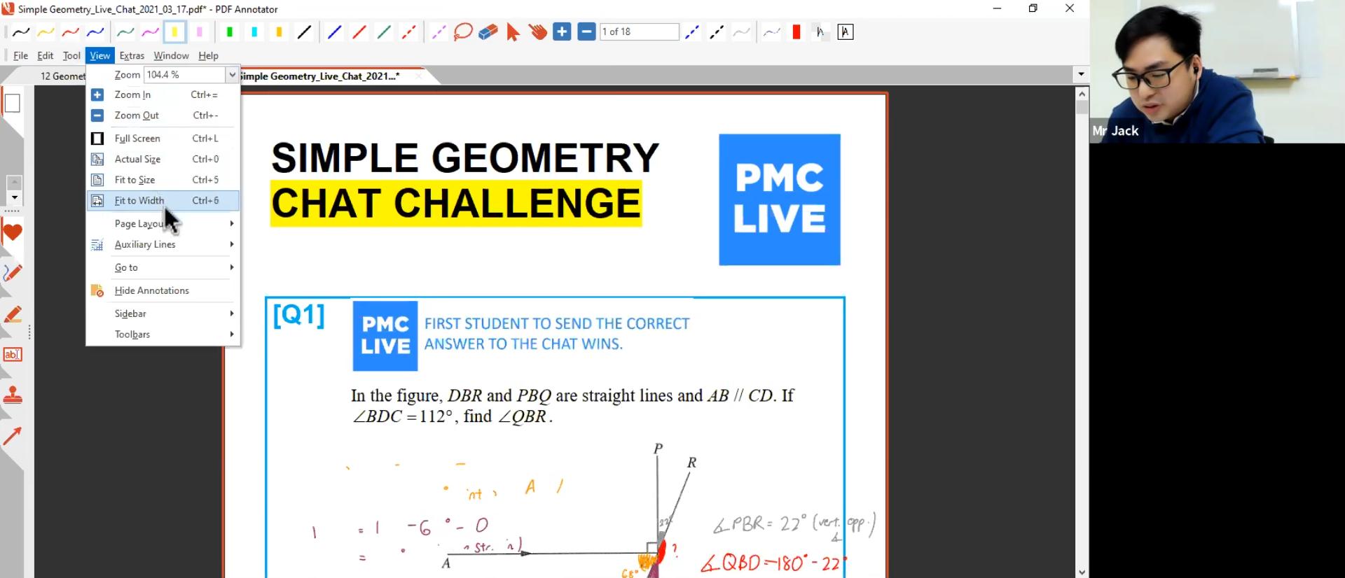 24. Geometry 2: Angles L2 + PMC Live Chat (Simple Geometry & Algebra)
