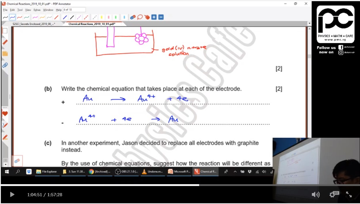 39. Chemical Reactions + Calculations EOY Revision