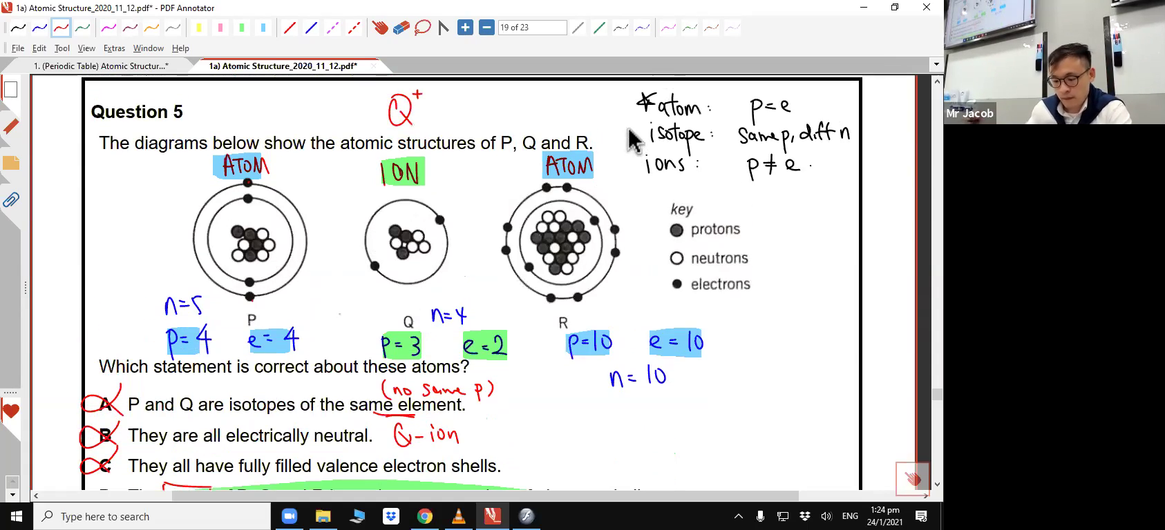 [ATOMIC STRUCTURE] Arrangement of Electrons & Noble Gases