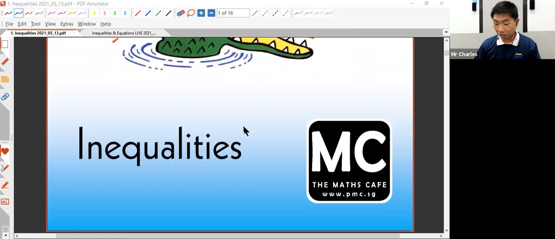 24. June Revision : Inequalities & Equations
