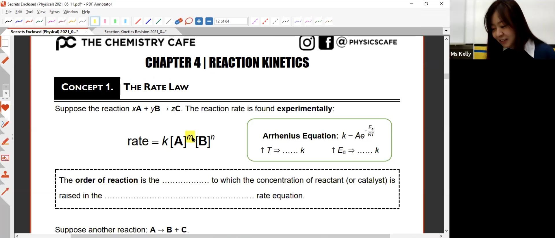 25. Kinetics Revision