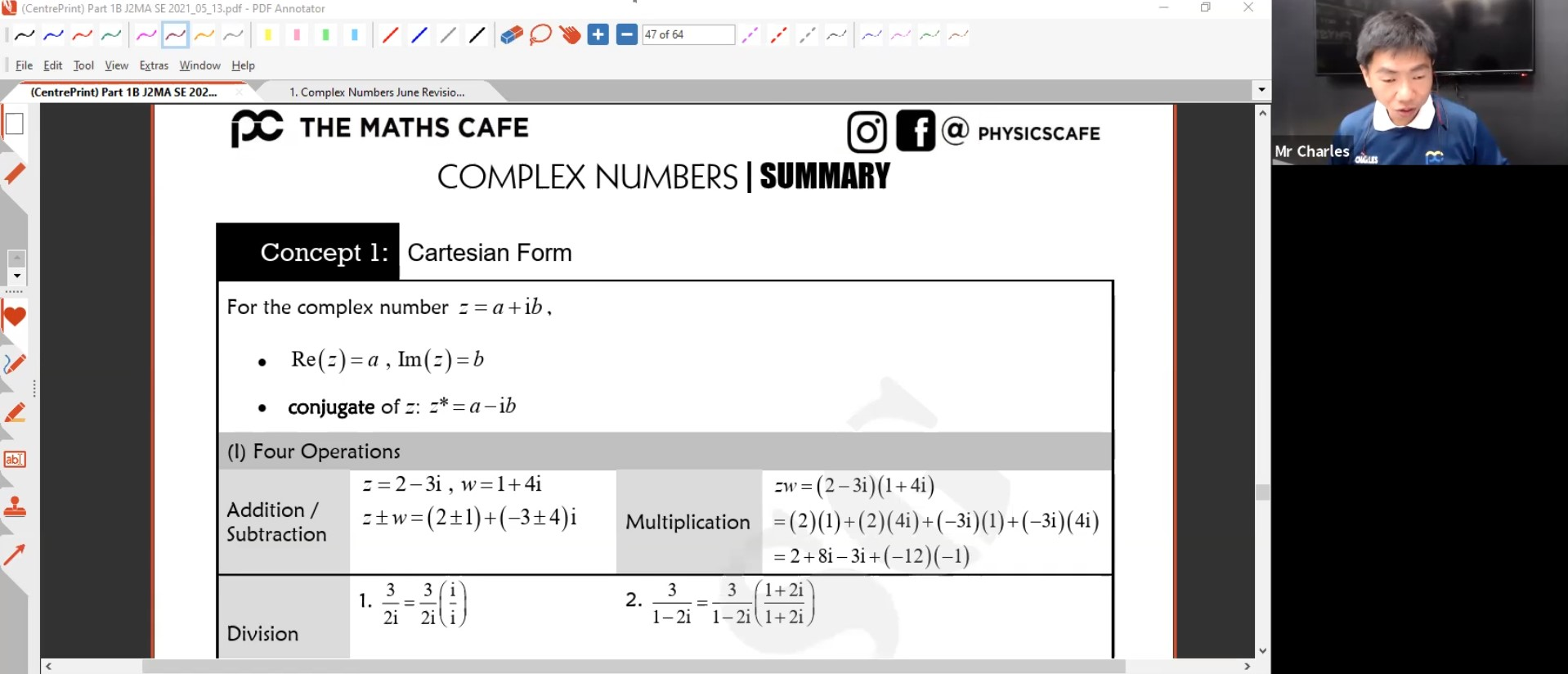 25. June Revision : Complex Numbers