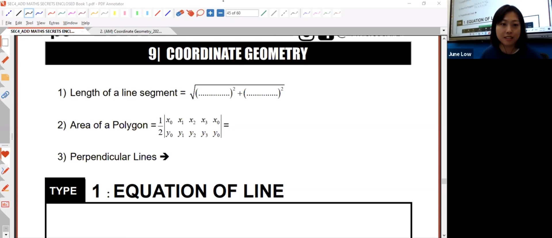 25. Final Revision :Coordinate Geometry