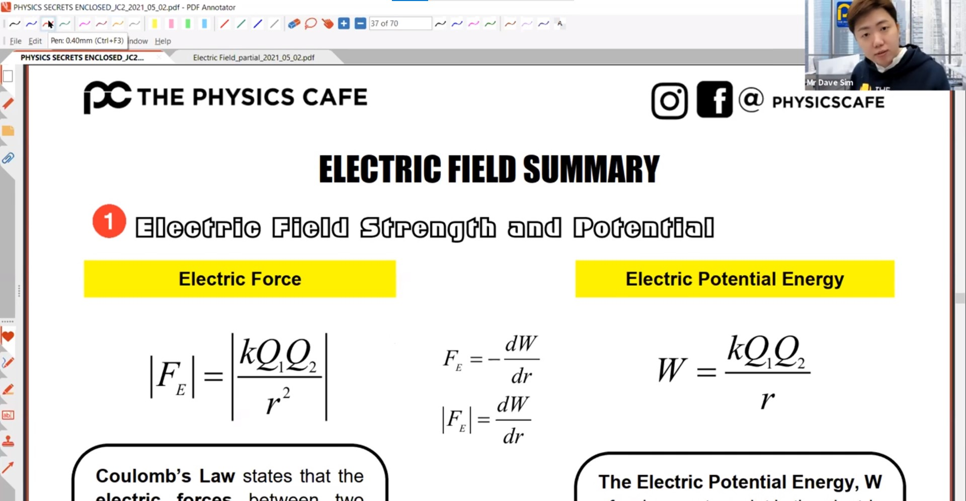 25. Electic Field Final Revision