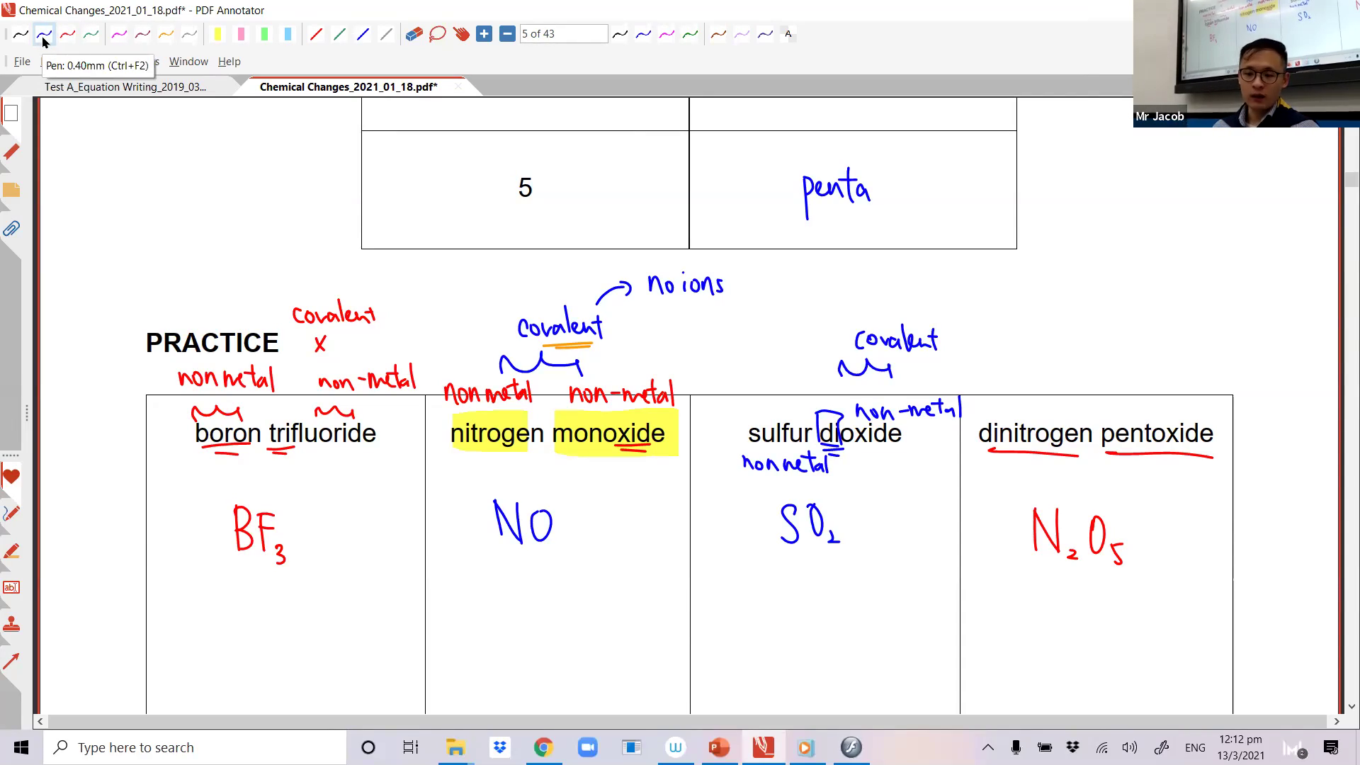 [CHEMICAL CHANGES] Chemical Formulae & Equation Writing