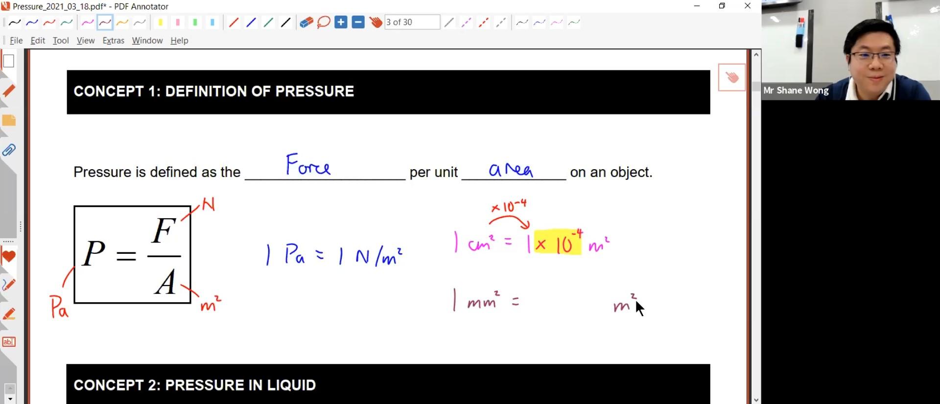 26. Pressure Lesson 2