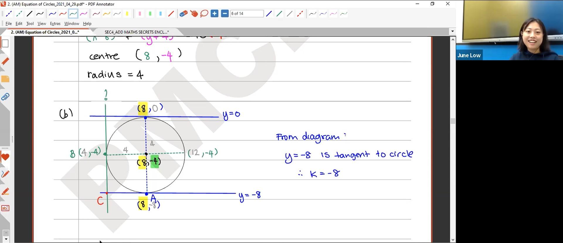 26. Final Revision: Equation of Circles