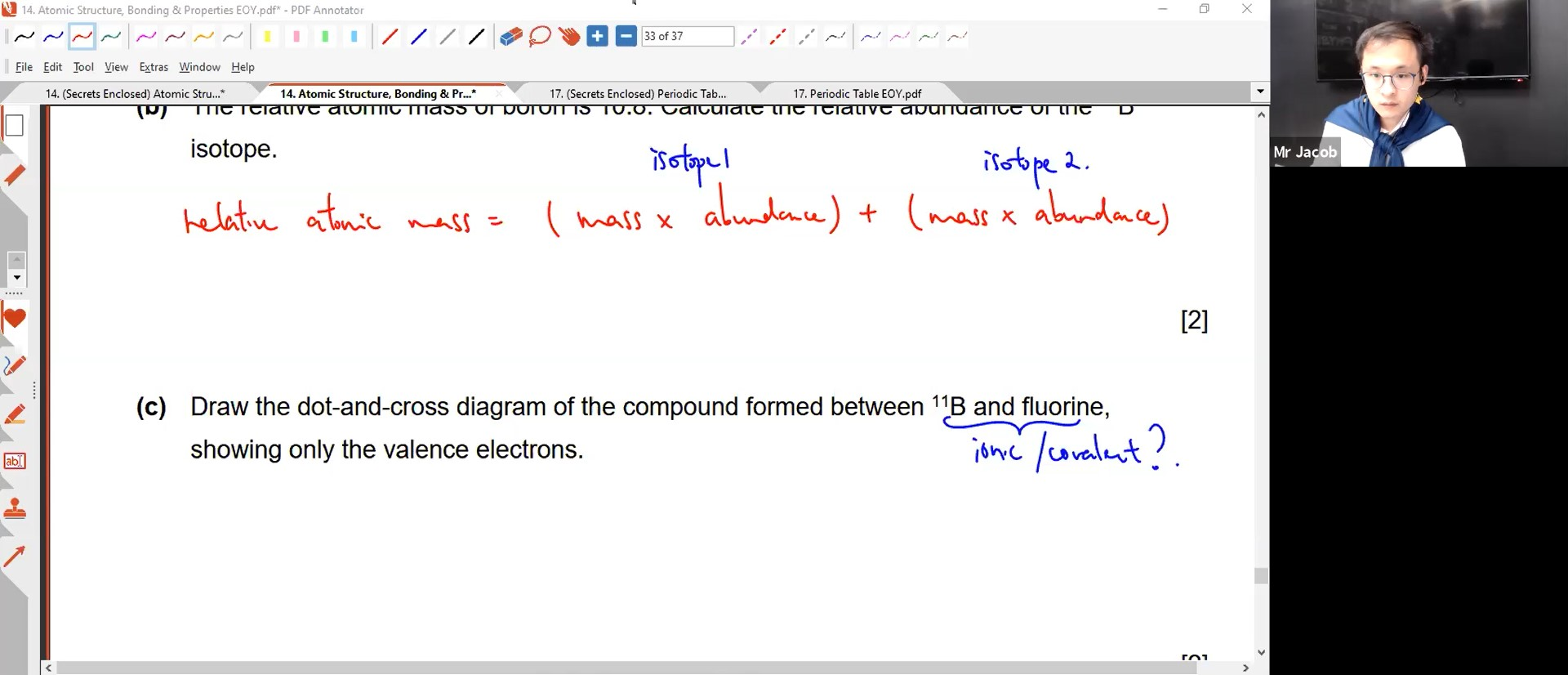 26. EOY - Atomic Structure, Chem Bonding & Structure of Matter 2