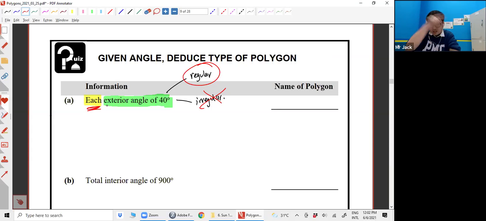 [POLYGONS] Exterior Angles