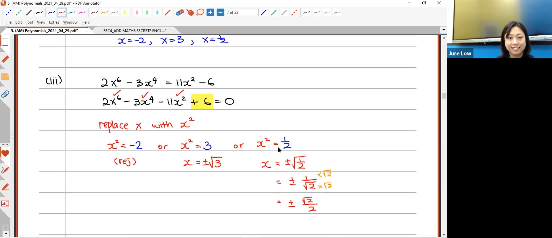 27. Final Revision: Polynomial + Partial Fraction