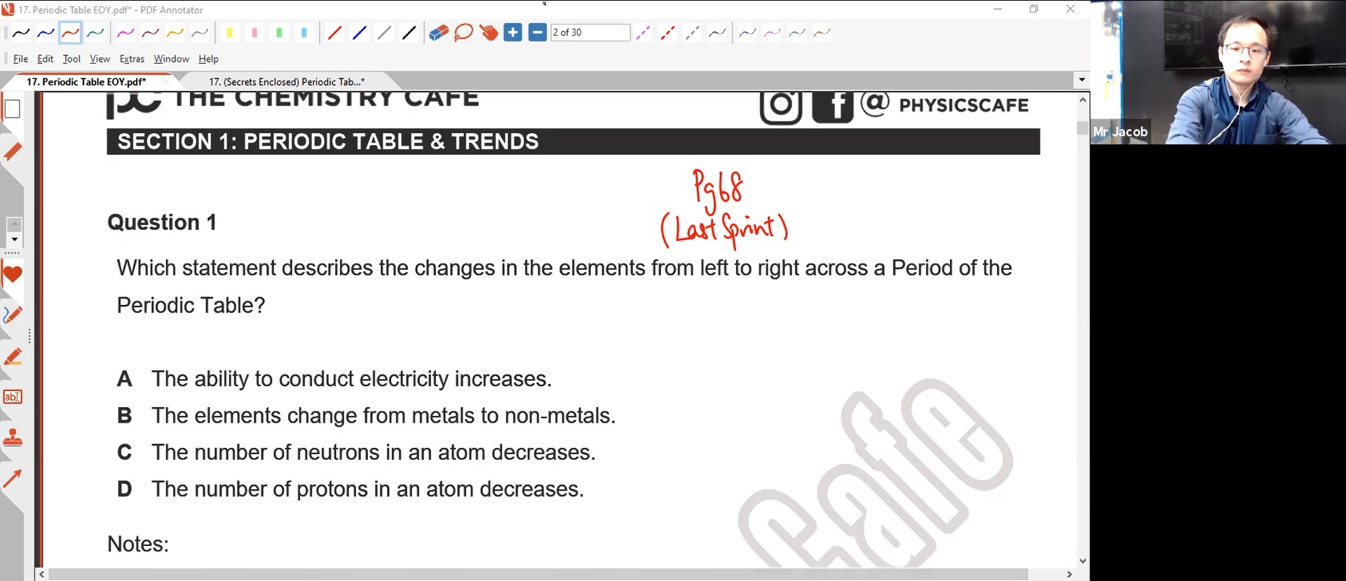 27. EOY - Periodic Table L1