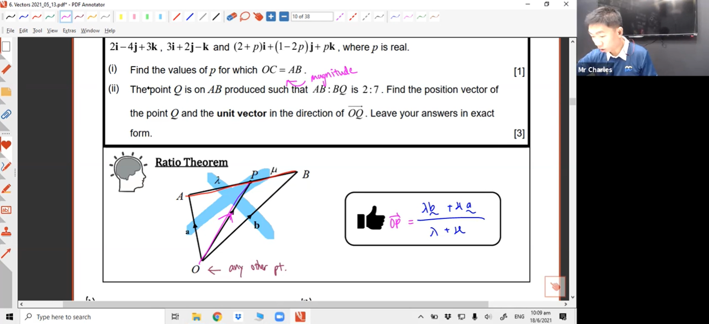 27. June Holidays Additional Lesson 1 - Vectors (Part 2)