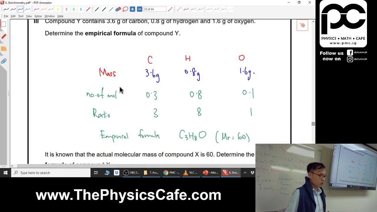 [STOICHIOMETRY] Percentage by Mass & Empirical Formula