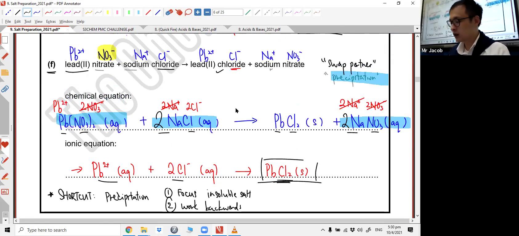 [SALT PREPARATION] Ionic Equations