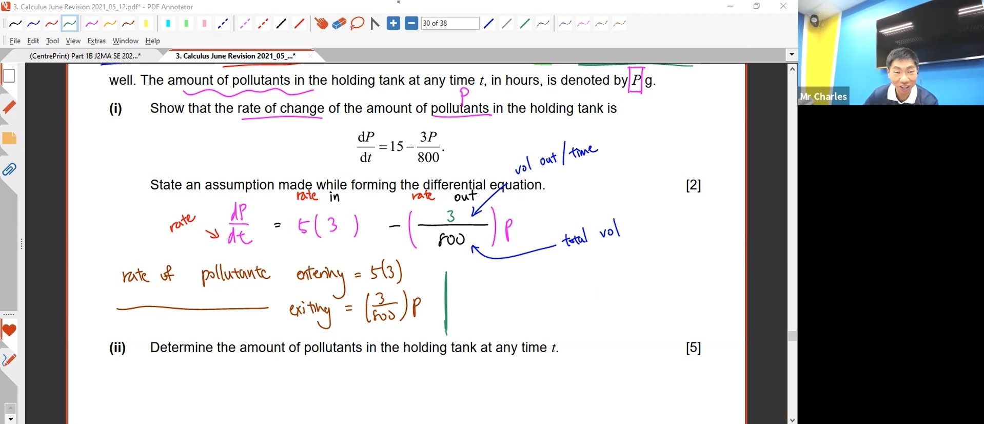 28. June Revision: Differential Equations