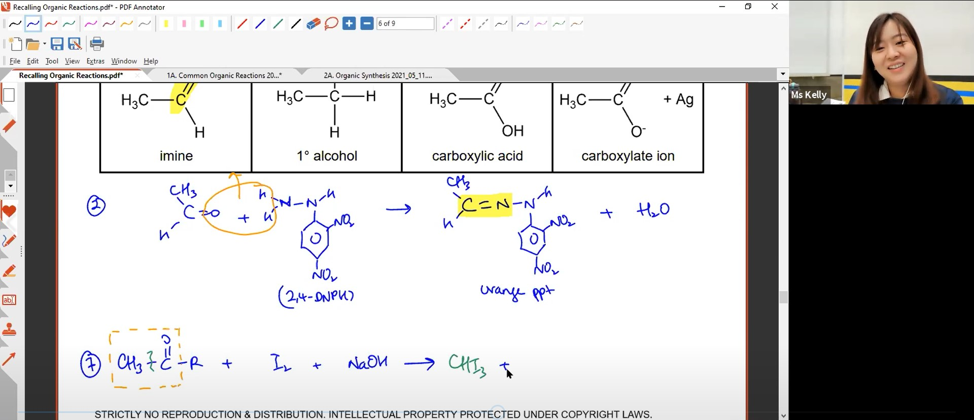 28. Organic Revision Lesson 1 (Common Organic Reactions)
