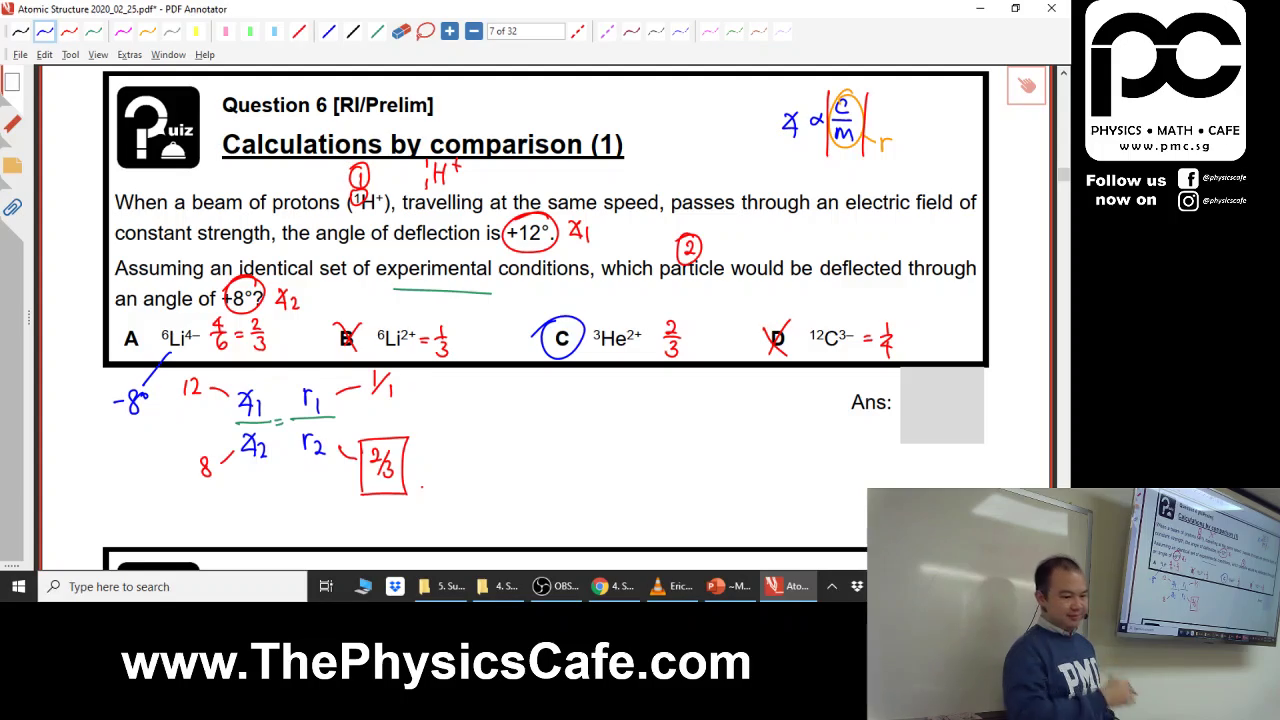 [ATOMIC STRUCTURE] Sub-Atomic Particles, Angle of Deflection