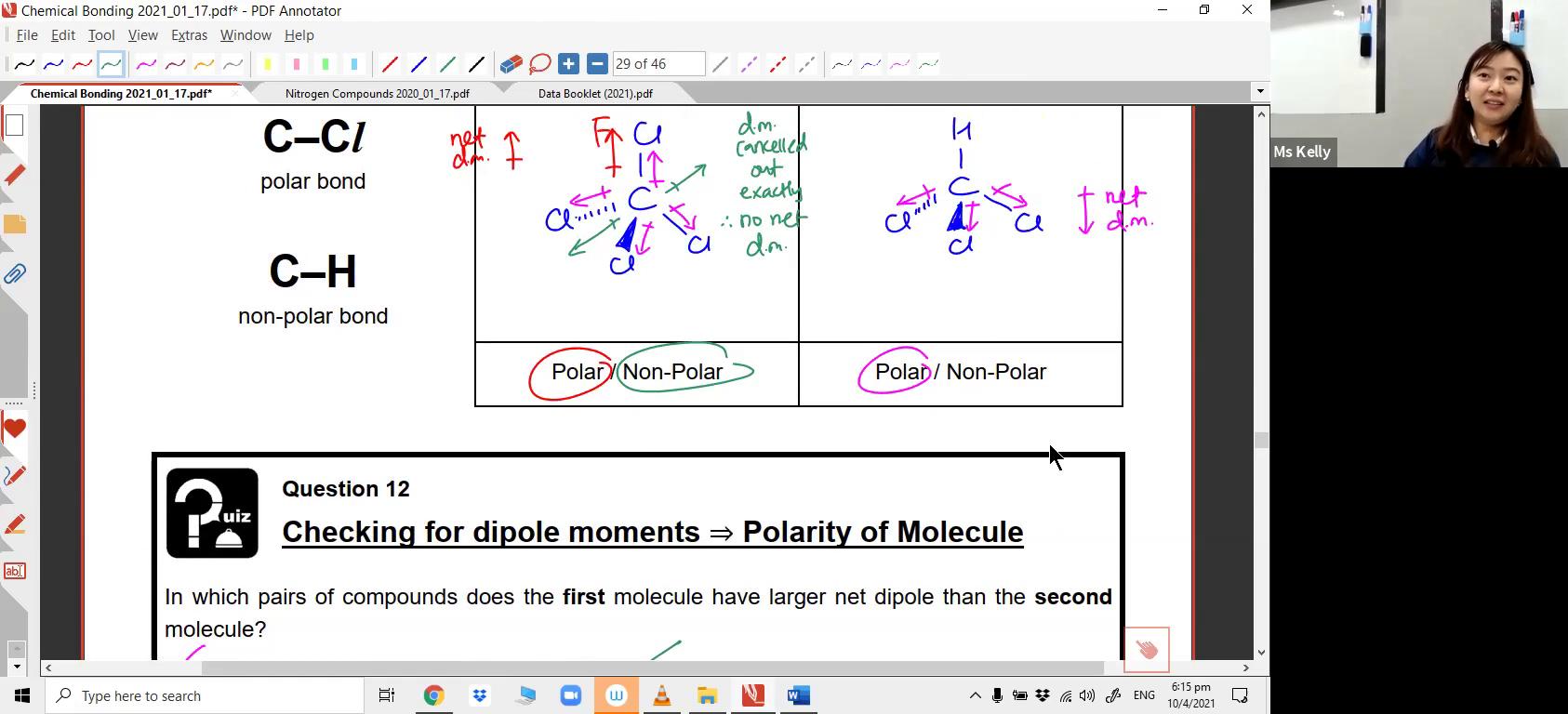 [CHEM BONDING] VSEPR Theory & Polarity