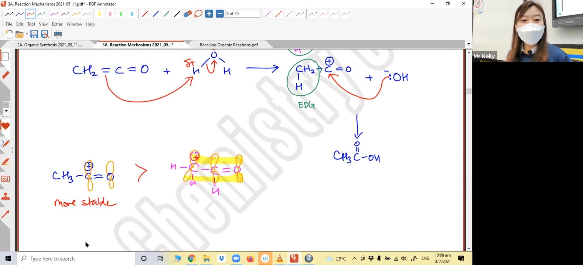 29. Organic Chemistry Revision 3 (Reaction Mechanism)