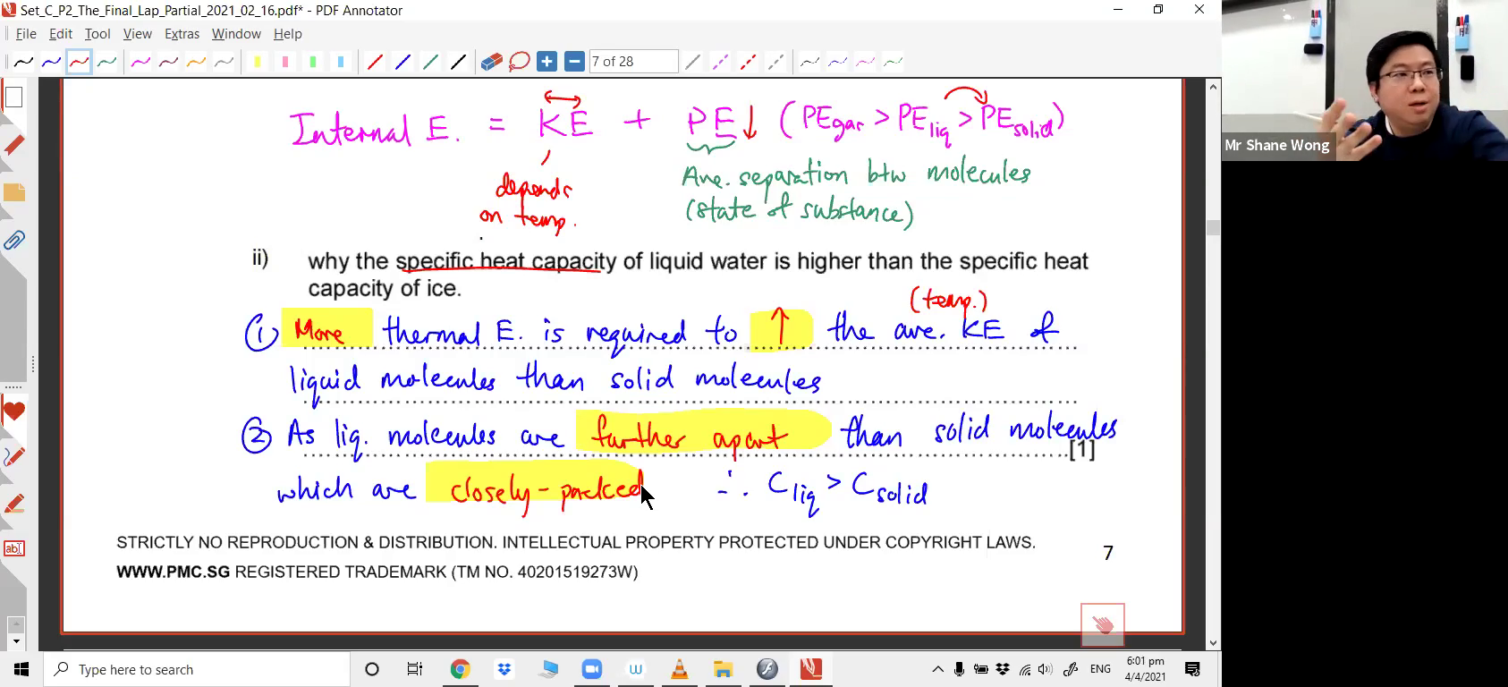 [THERMAL PHYSICS] Specific Latent Heat