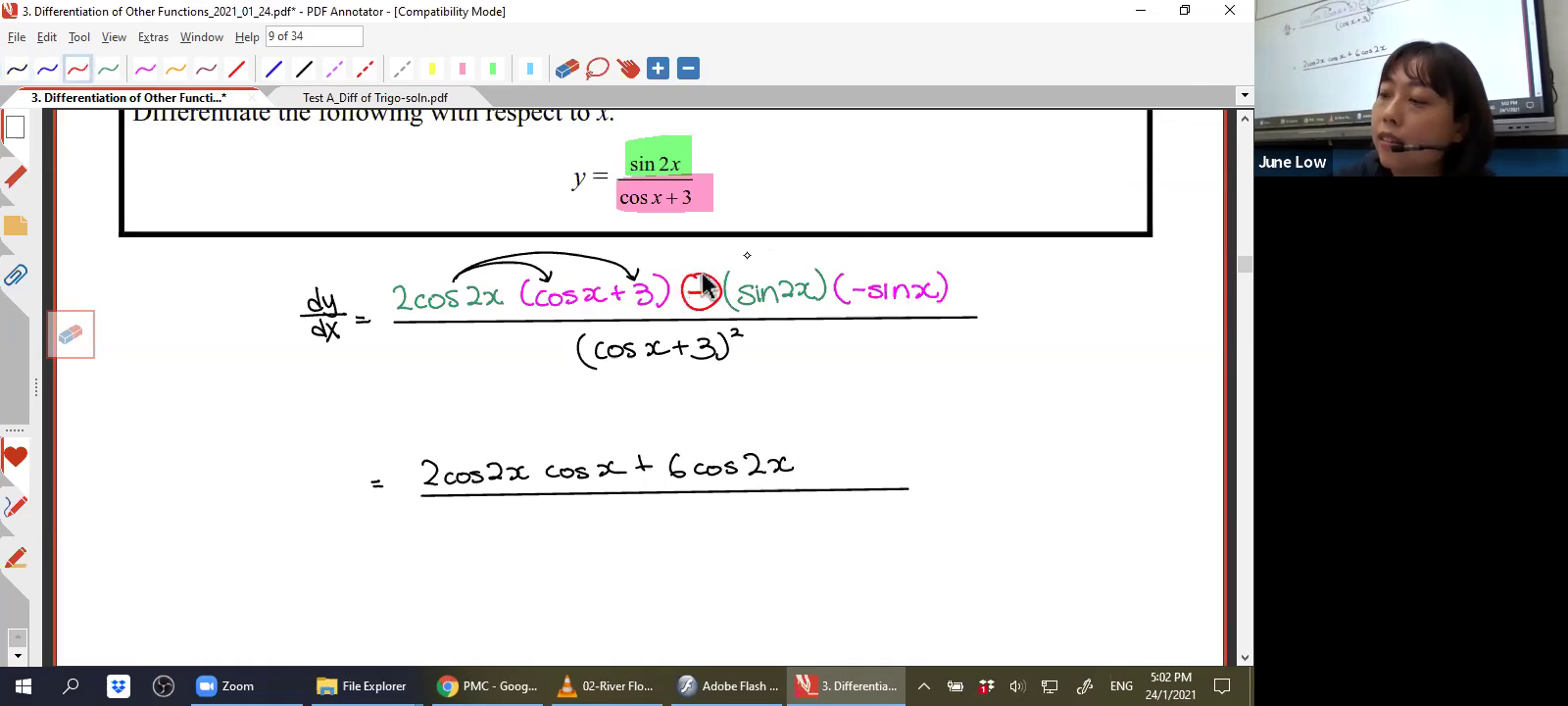 [DIFFERENTIATION OF OTHER FUNCTIONS] Trigonometric Functions