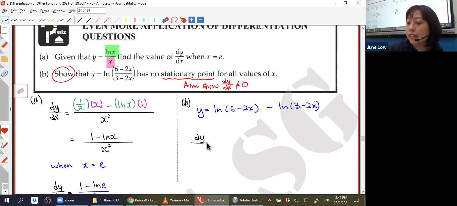 [DIFFERENTIATION OF OTHER FUNCTIONS] Logarithmic Functions