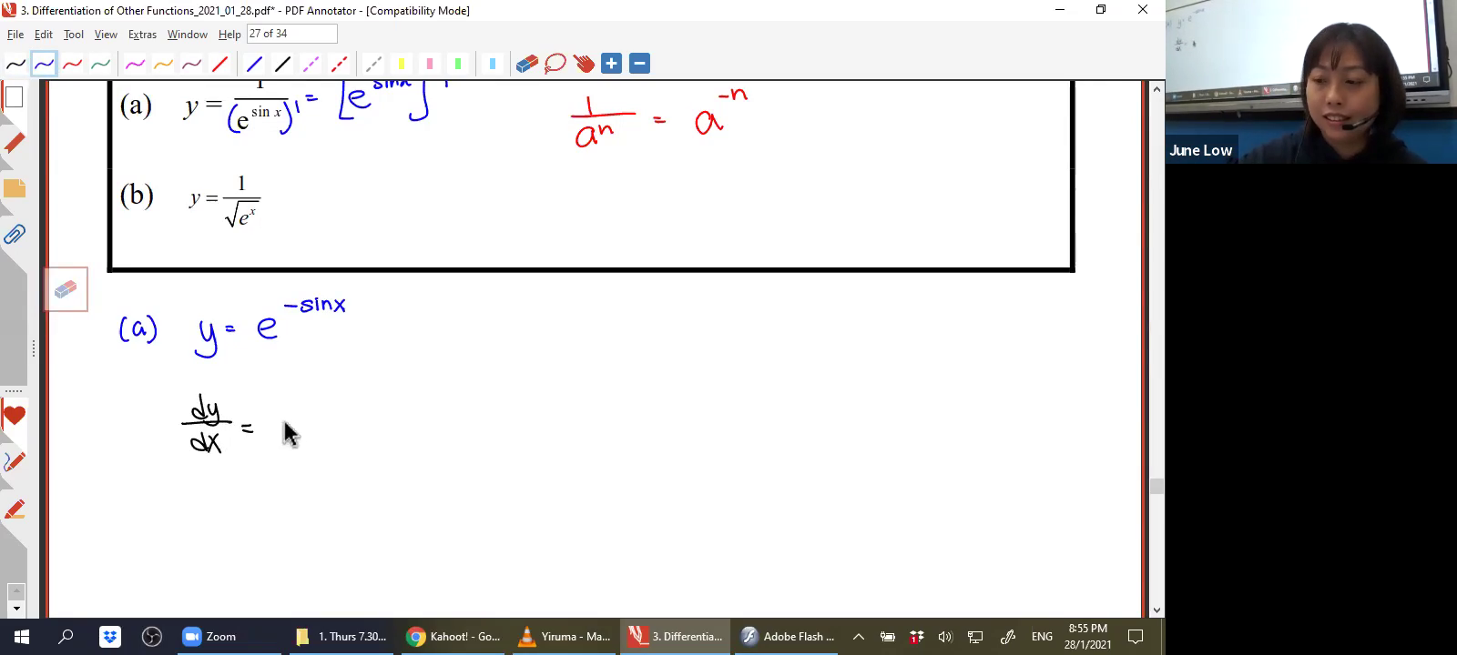 [DIFFERENTIATION OF OTHER FUNCTIONS] Exponential Functions