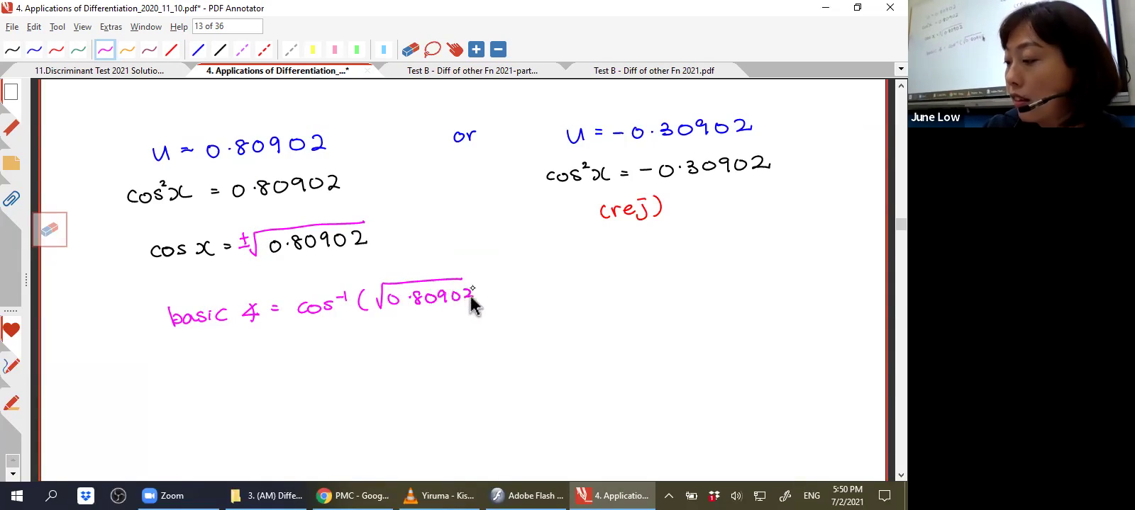 [APPLICATIONS OF DIFFERENTIATION] Nature Of Functions