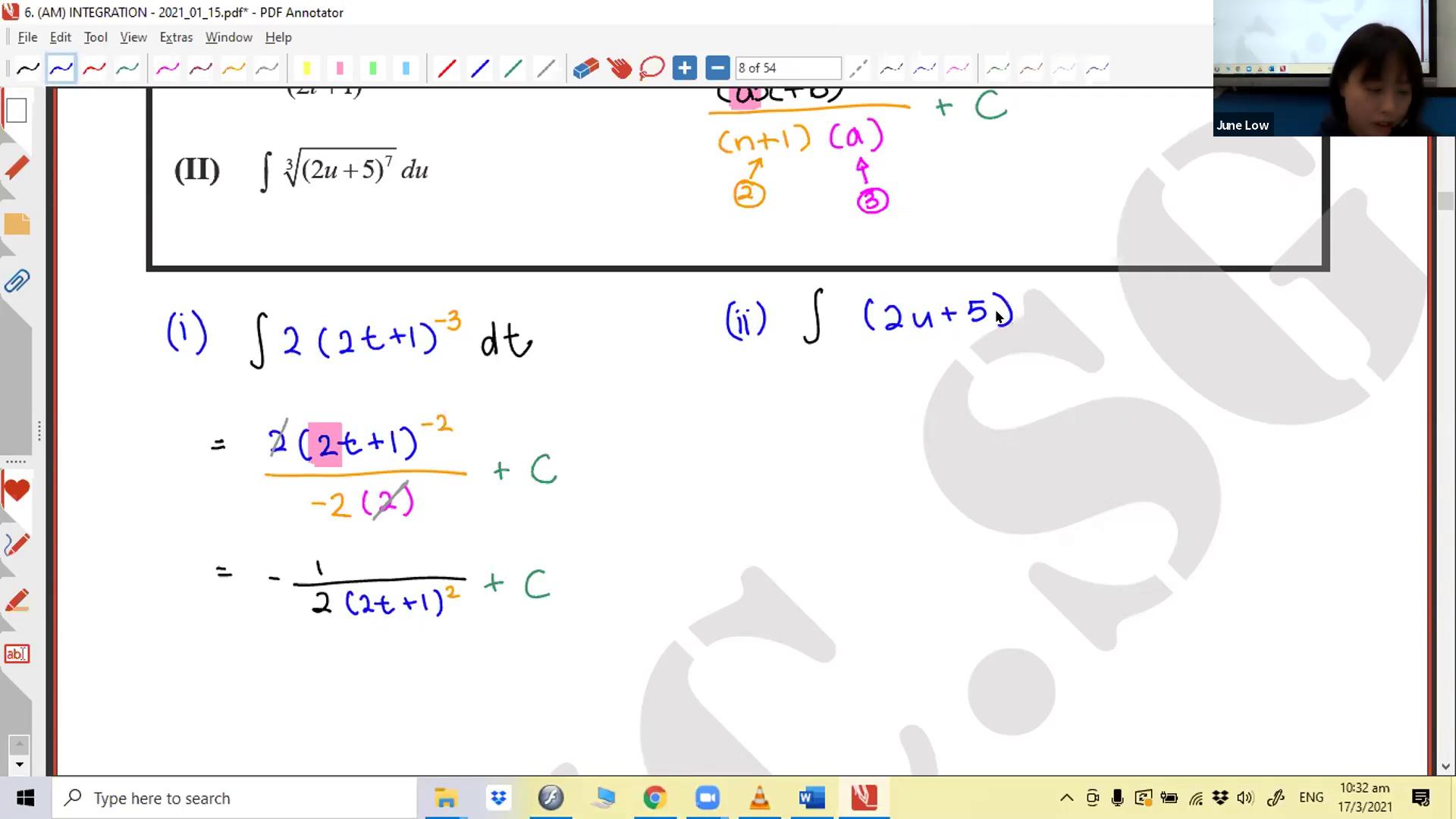 [INTEGRATION] Algebra