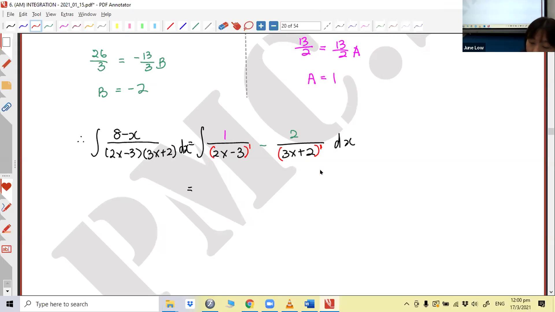 [INTEGRATION] Algebraic Fractions