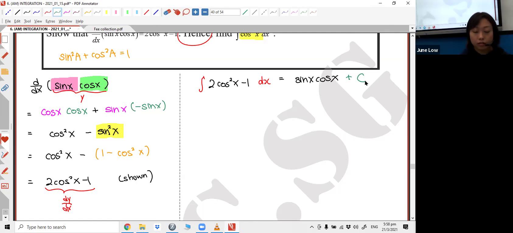 [INTEGRATION] Trigonometric Functions