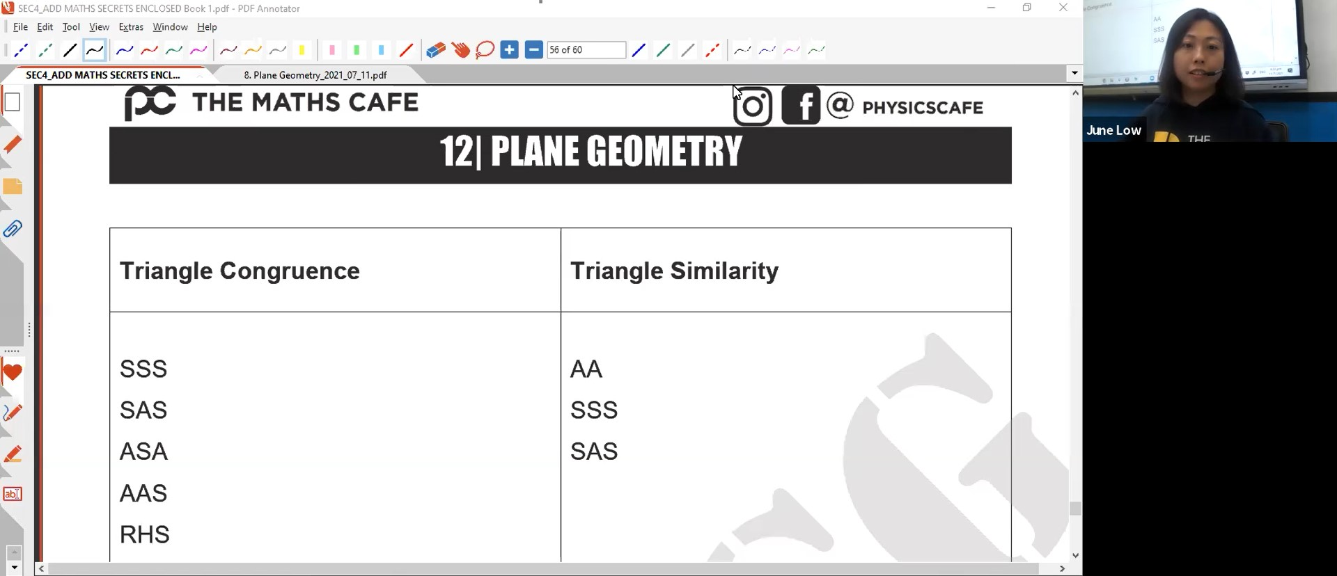30. Final Revision: Plane Geometry