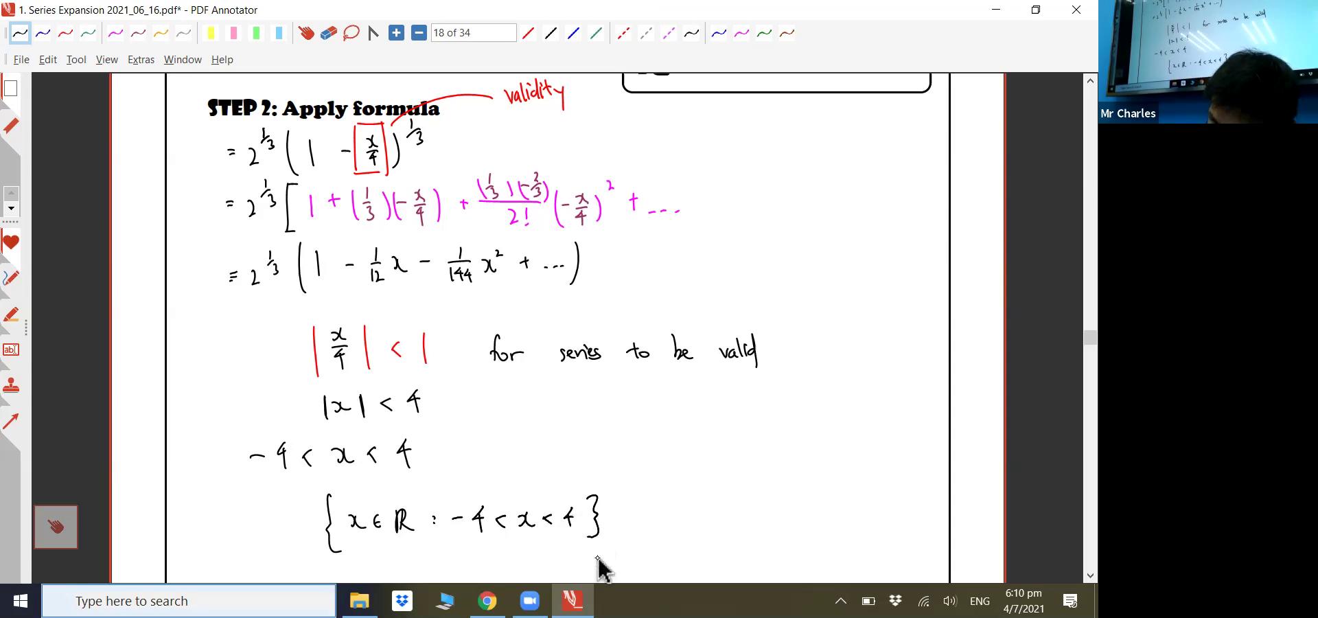 [SERIES EXPANSION] Binomial Series