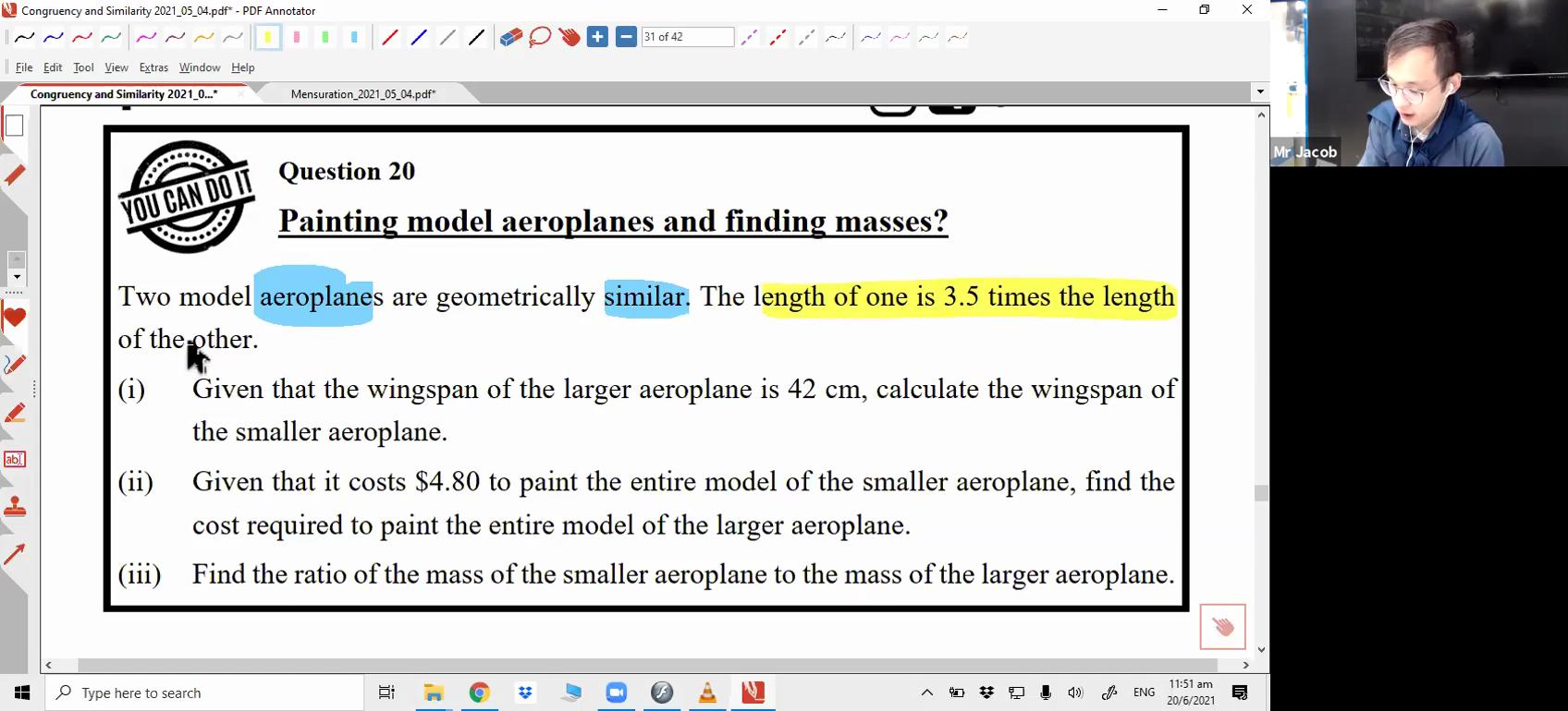 [MENSURATION] Length/Area/Volume ratio of similar figures
