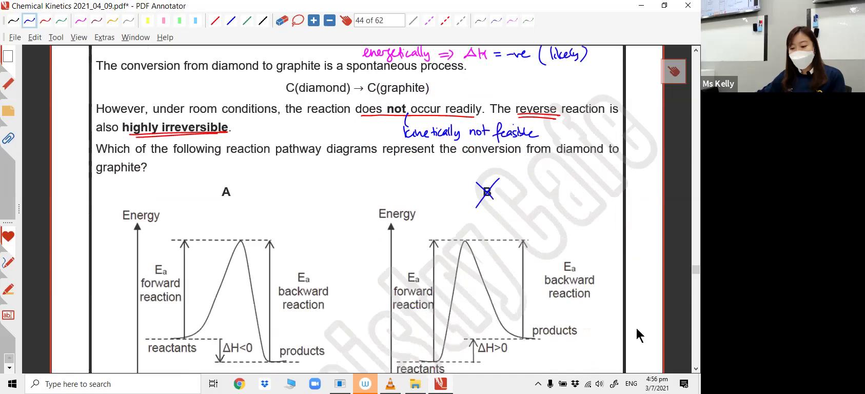 [REACTION KINETICS] Energy Profile Diagram
