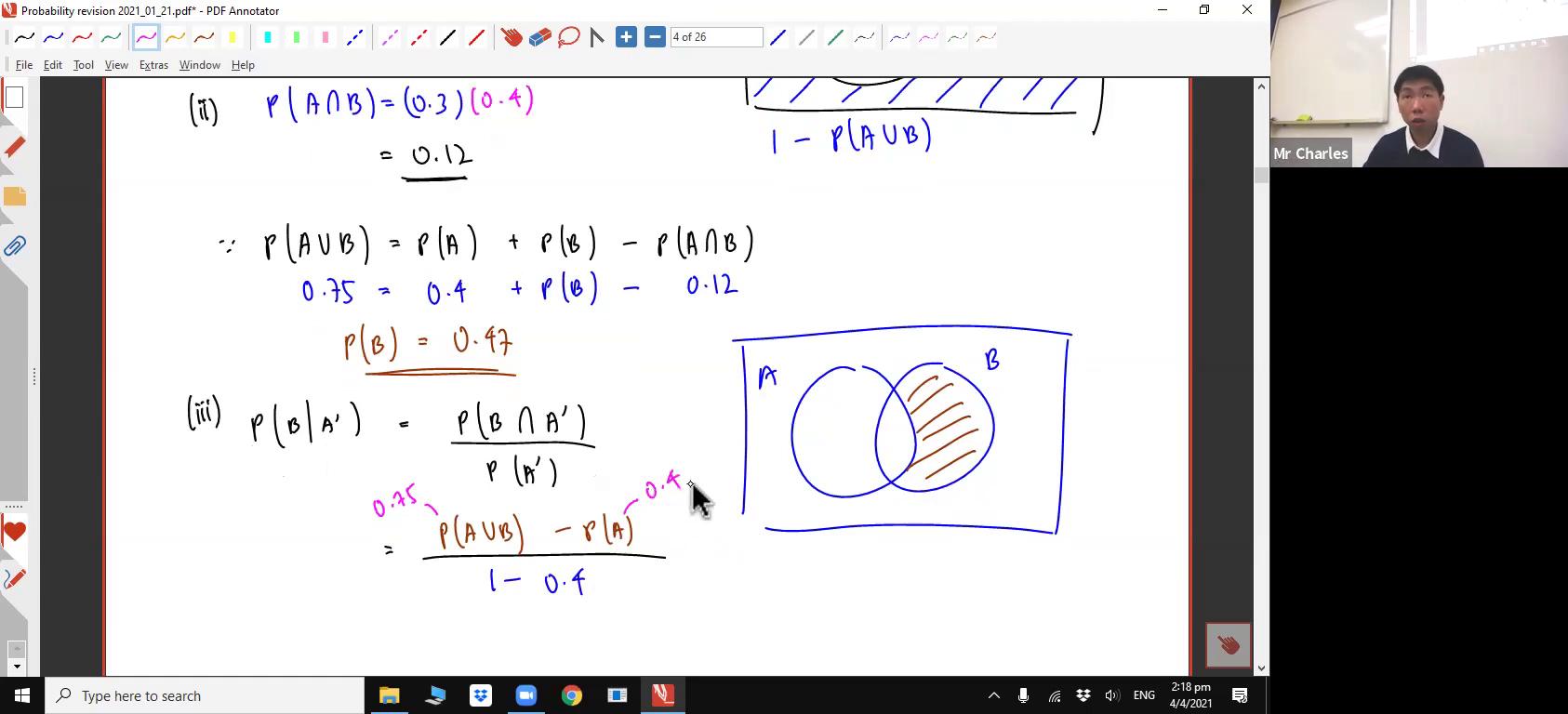 [PROBABILITY REVISION] Venn Diagrams