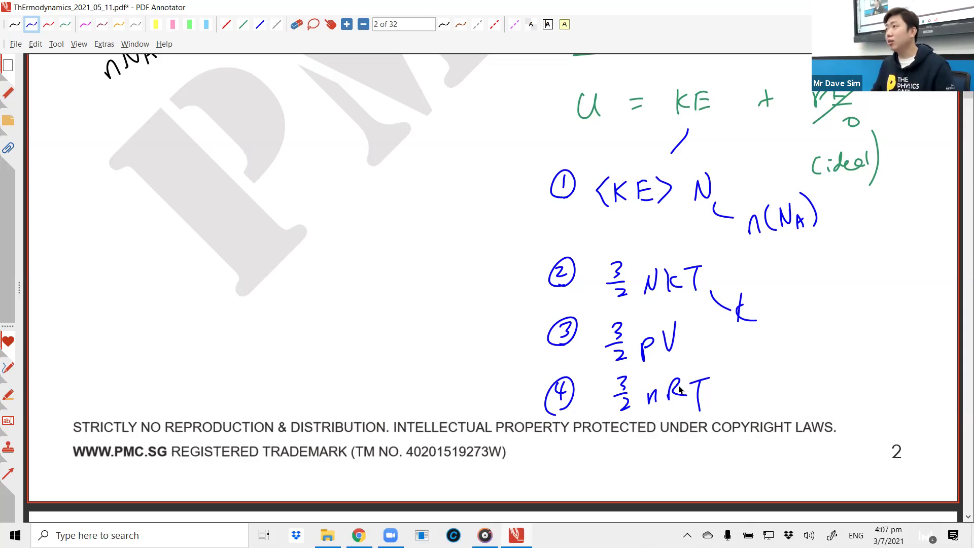 [THERMAL PHYSICS] Kinetic Theory of Gases