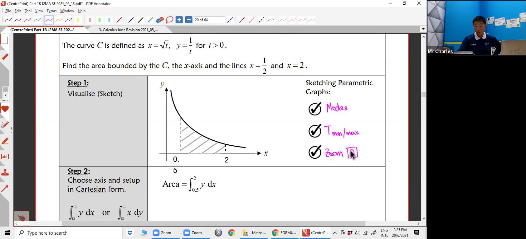 [INTEGRATION] Area under curve